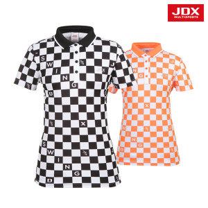 여성 체스패턴 요꼬에리 티셔츠 2종 택1 (X1NMTSW06)