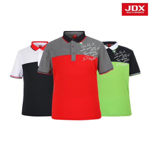 JDX  남성 컬러 블러킹 요꼬 티셔츠 3종 택1 (X2NMTSM93)
