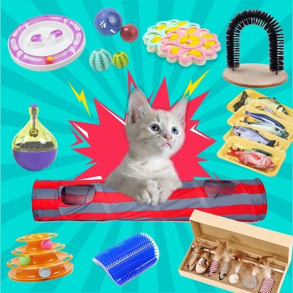 고양이장난감 모음 고양이용품 스크래쳐 그루밍 놀이