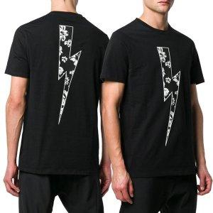 패션쇼크 닐바랫 19SS 플라워 라이트닝 반팔 티셔츠