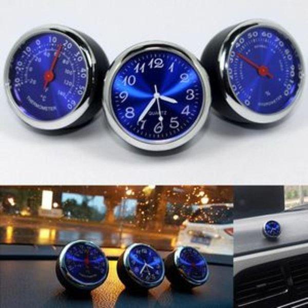 아트로마 자동차 송풍구형 아날로그시계 차량용온도계