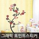 그래픽스티커 꽃나무 B WBECO001 다용도스티커 벽면스