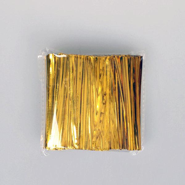 제과 제빵 포장끈 철사끈/8cm 빵끈 금색 -1개/S311