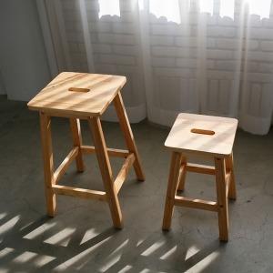 원목 사각 스툴 인테리어 카페 화장대 식탁 의자/대