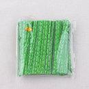 제빵 포장끈 철사끈/10cm 종이빵끈 녹색글씨 -1개/S337