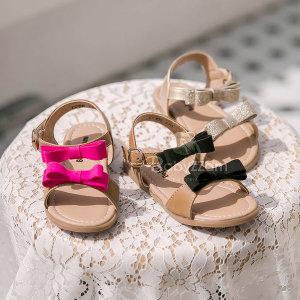 나나프렌즈 베이비쨈 여아샌들 여름신발 두겹리본