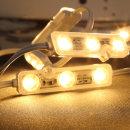 간판 조명 / 12V LED 3구모듈 _6.6cm 웜화이트