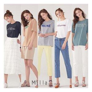 밀라 MILLA 19 Summer 레터링 티셔츠 5종