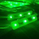 간판 테두리 조명 / 12V LED 3구모듈 _6.6cm 녹색