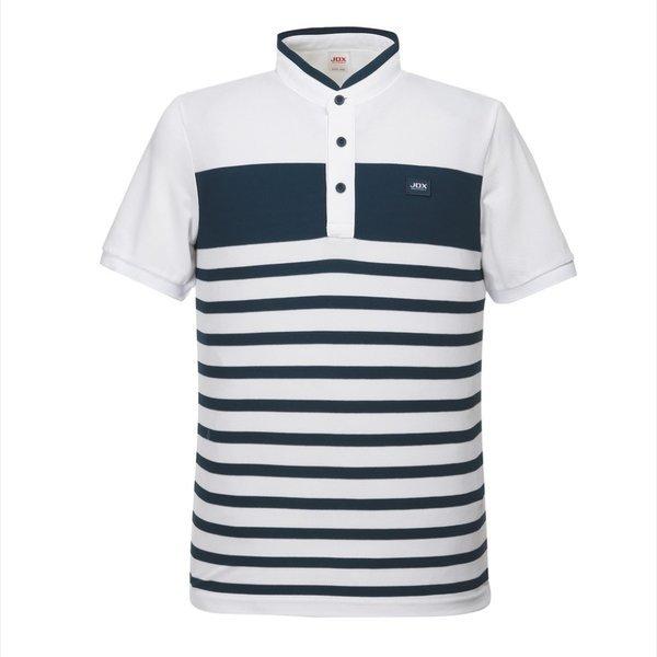 남성 스트라이프변형에리 티셔츠 X2PMTSM05