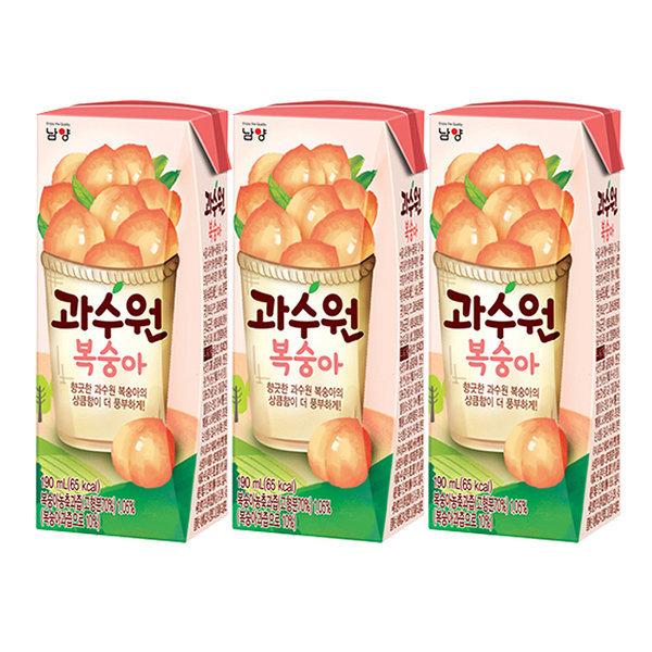 과수원 복숭아쥬스 190ml x 24팩 주스 음료수