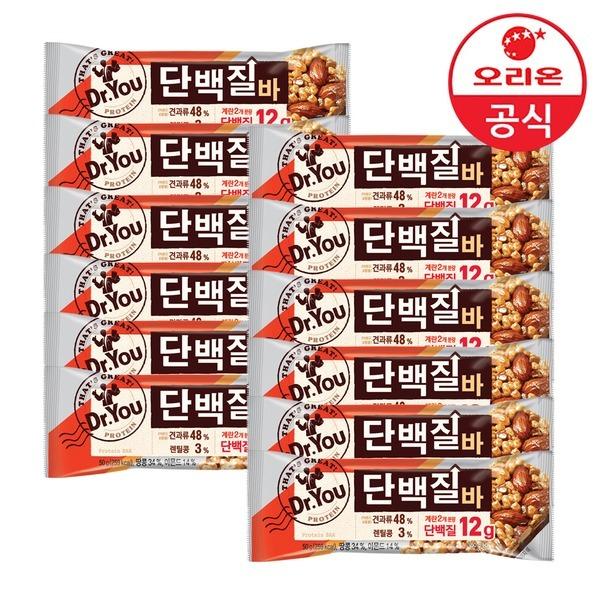 오리온 닥터유 단백질바 50g 12개