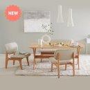 포레 릴렉스 4인 식탁 벤치세트(의자2+벤치1포함)_DIY