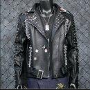 펑키 남성  라이더 가죽자켓 할리 스타일 록커G2
