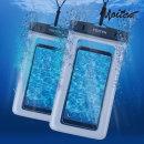 1+1 화이트 핸드폰 휴대폰 방수팩 레릭 화이트+화이트
