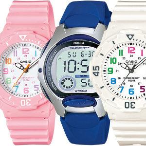 카시오 여자학생 방수패션 알람전자손목시계