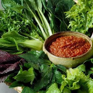 당일수확 충주 유기농 쌈채소 8종 600g 샐러드채소