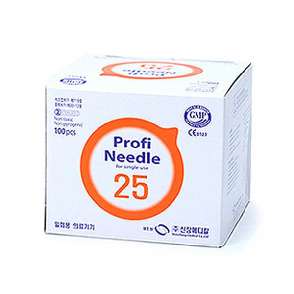 신창 일회용 멸균주사침 25g x 5/8인치 100개