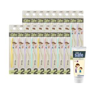 키즈세이프 유아 칫솔 2단계 4~6세 x18개+포도치약1개