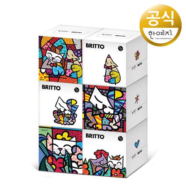 한예지 브리토 캣츠 미니미용티슈 250매X6팩/화장지