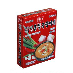 명품즉석식 맛더 명품청국장찌개/80g/10개/즉석국