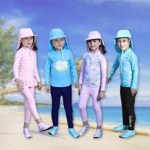 (아이스샌드) 아동 래쉬가드 4종(상의+하의+플랩캡+아쿠아슈즈)세트 8종 균일가