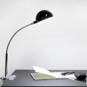 하프볼 클립 LED 스탠드 블랙 북라이트 집게등
