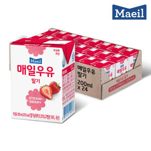 매일우유 딸기 멸균 200ml 24팩