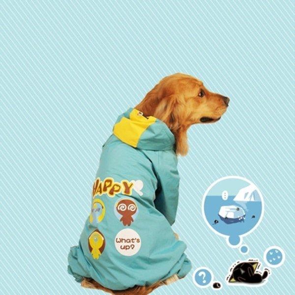 강아지 대형견 바람막이 우비 비옷 레인코트