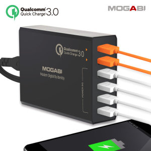 6포트 퀵차지3.0 고속 멀티충전기 핸드폰급속충전 블랙