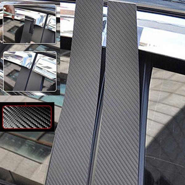 투싼ix 09~2014 전용 블랙 카본기둥몰딩 6P B필러몰딩