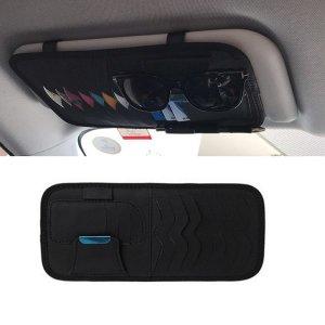 미니파츠 차량용 선바이저 cd 카드 케이스 블랙