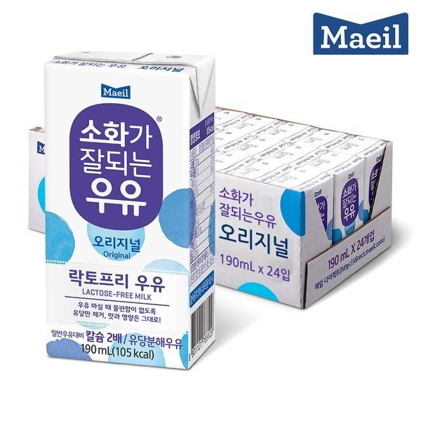 매일 소화가잘되는우유 멸균 190ML 24팩