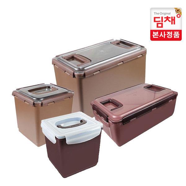 위니아딤채 딤채 김치통 참숯투명용기(8.1리터/18.0리터) 반투명용기(6.5리터/13.3리터)-세트판매