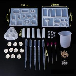 미라클 34 레진공예 실리콘 몰드 DIY 세트 UV 레진