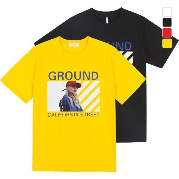 리셋  리셋  그라운드 반팔 티셔츠 HMBT002