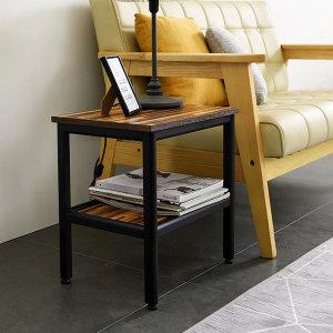 스틸 2단 협탁 다용도 테이블 철제 디자인 탁자(SS022)