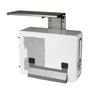AS450 [책상 고정식 컴퓨터 본체 받침대]책상 상판 고정식/전후슬라이딩/360도회전