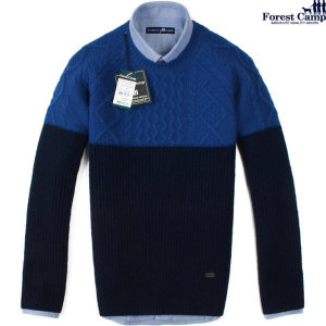 FOREST CAMP Lambswool Color Matching Sweater/양두 니