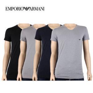 알마니 남자 브이넥 반팔 티셔츠 CC717-111512 4컬러 택1
