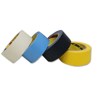 3M 마스킹 테이프 종이 마감재 보호 내열 노랑 흑색