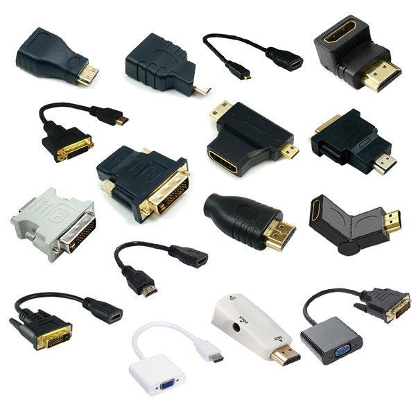 변환젠더/HDMI/RGB/DVI/VGA/마이크로HDMI/미니HDMI
