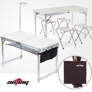 아웃팅 프리미엄 캠핑테이블+의자세트 접이식테이블