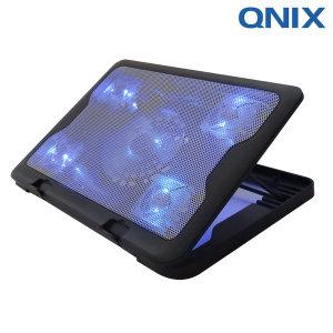 쿨링팬 5개 노트북쿨러 거치대 테이블 QNC-2000 블루