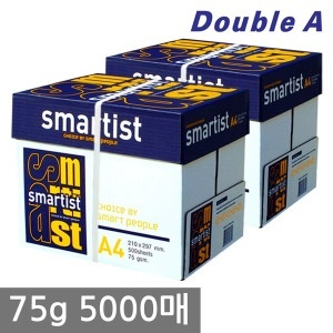 스마티스트 A4 복사용지(A4용지)75g 2BOX/더블에이