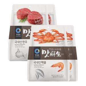 청정원 맛선생 한우 120gX2개+해물120gX2개(파우치)