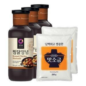 청정원 찜닭양념 500gX3개+맛소금 250gX2개