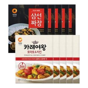 삼선짜장X5개+카레여왕토마토 치킨 160gX5개(즉석)