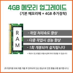 메모리 4G 업그레이드 주변기기(개별구매불가상품)