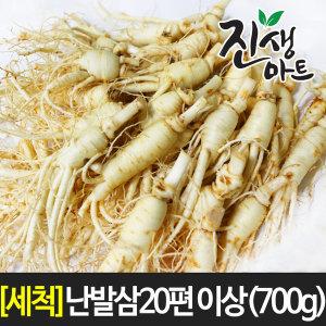 국산가정용 싱싱한 인삼 세척 난발삼 20편 이상 (700g)